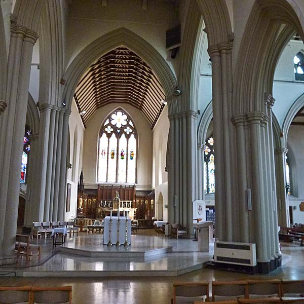 A photo of Salford Cathedral Alter from the side chapel