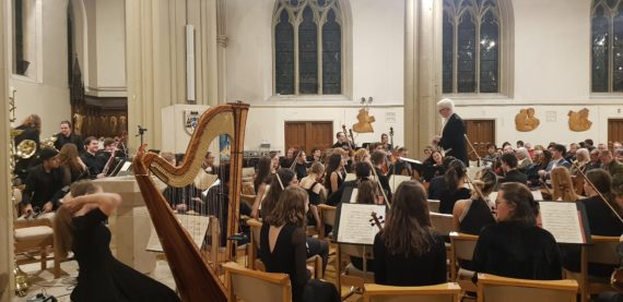 Joshua Quinlan Conductor leads the Northern Philharmonic Orchestra at their 2nd concert