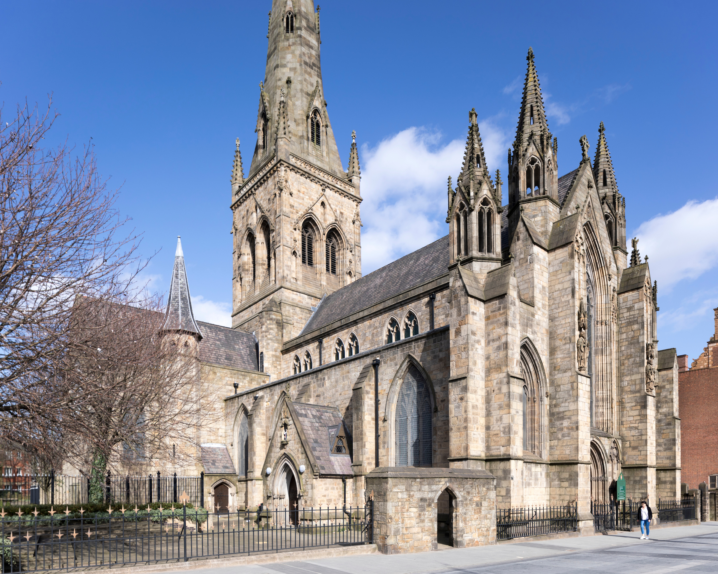 A photograph of the Cathedral on a sunny day taken from outside.