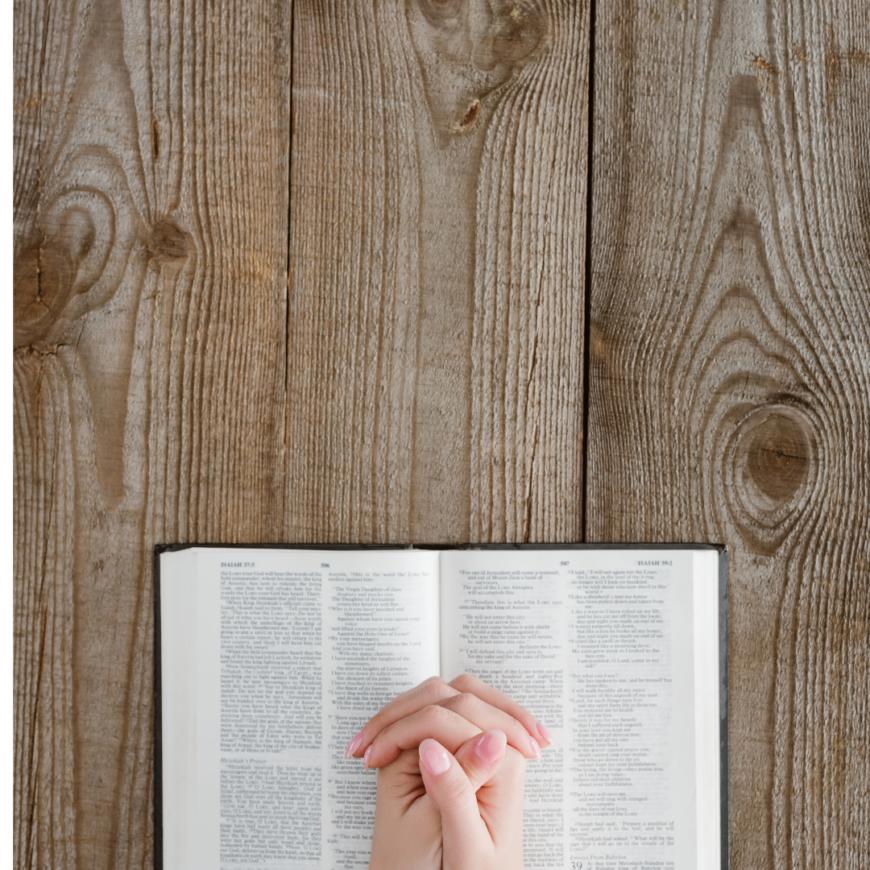 praying hands bible